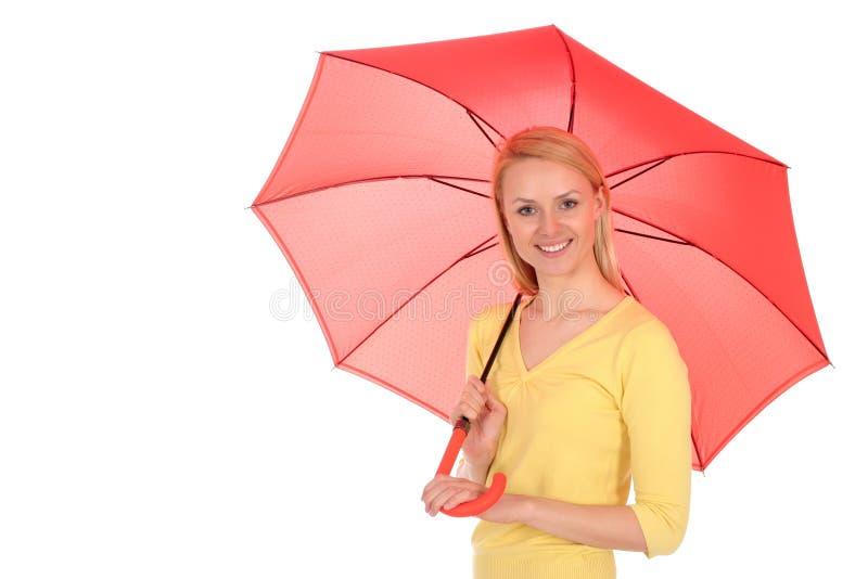 藏品伞妇女 库存图片