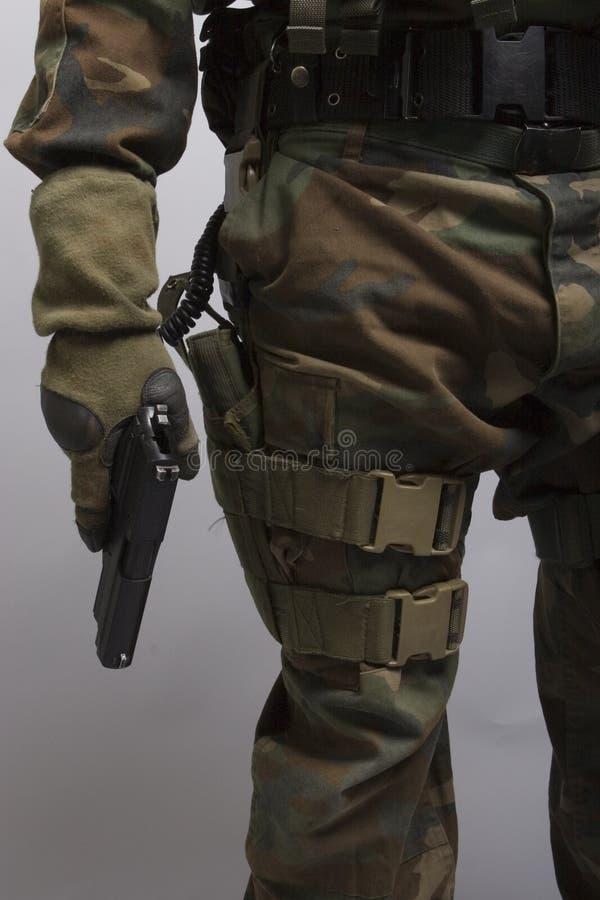 藏品手枪战士 免版税图库摄影