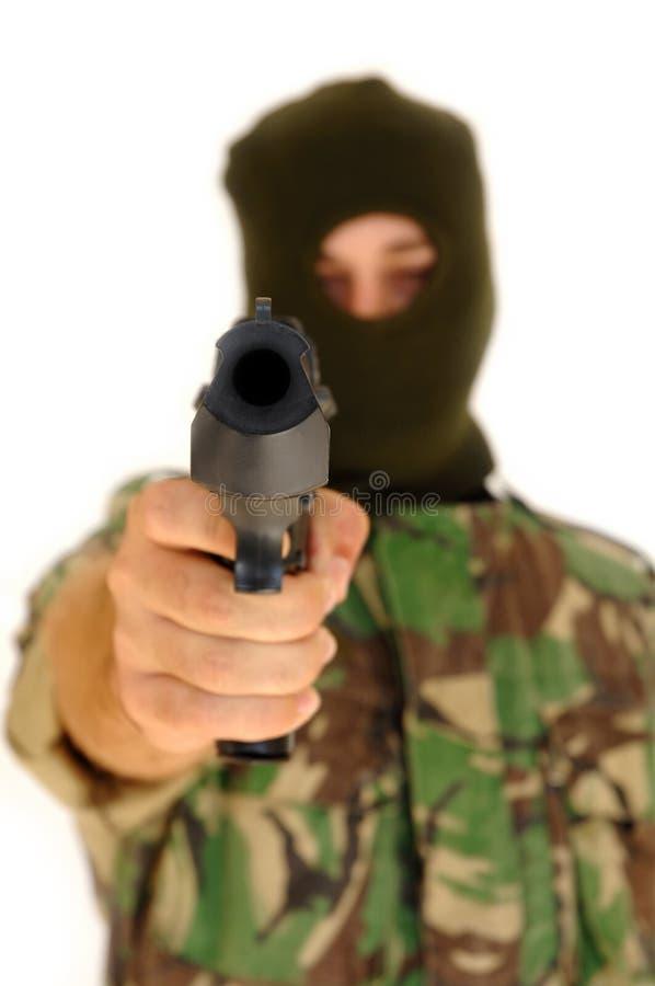 藏品手枪战士 免版税库存照片
