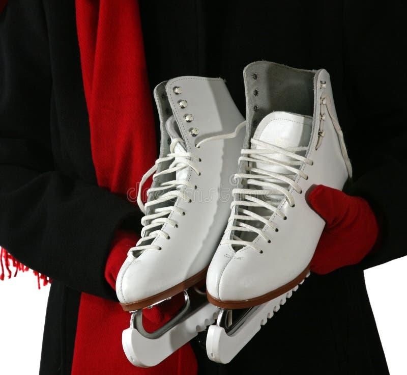 藏品溜冰鞋妇女 图库摄影