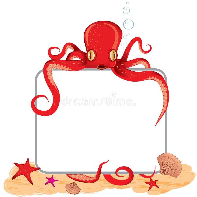 藏品章鱼符号 库存例证