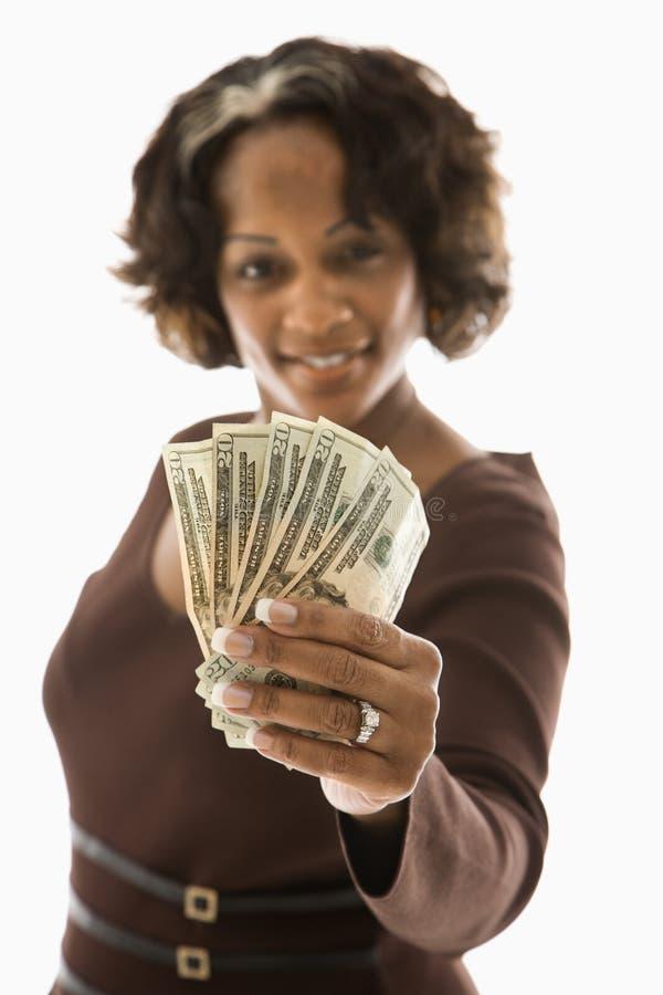 藏品货币妇女 免版税库存图片