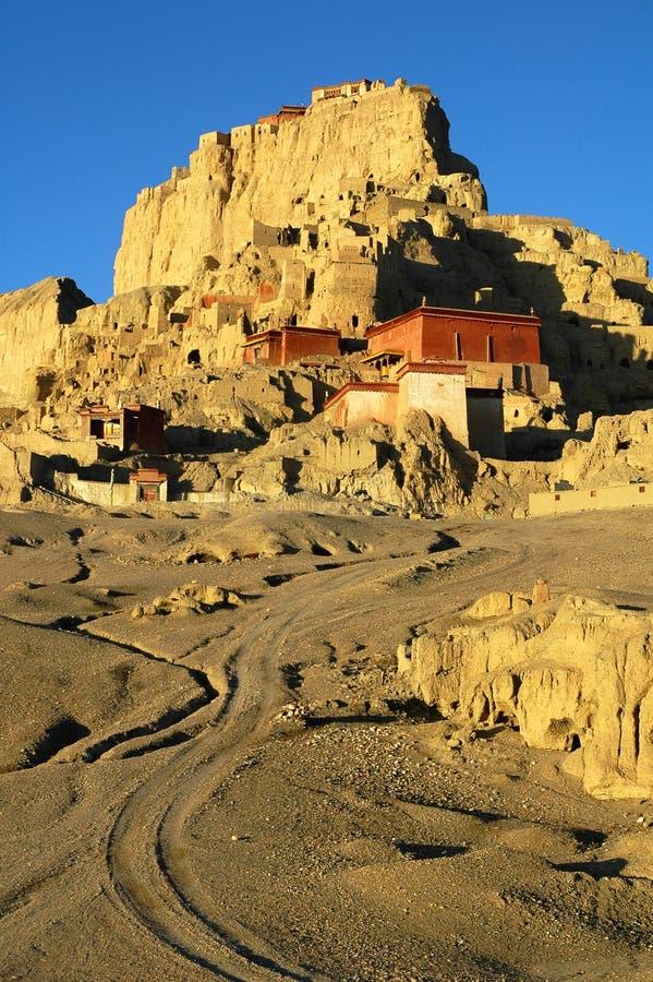 藏语古老城堡的遗物 免版税库存照片