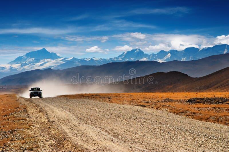 藏语的高地 库存照片