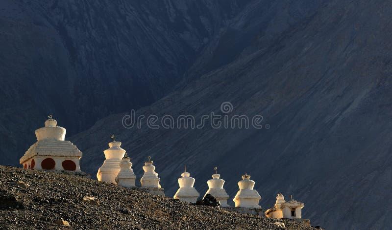 藏语chörten 免版税图库摄影