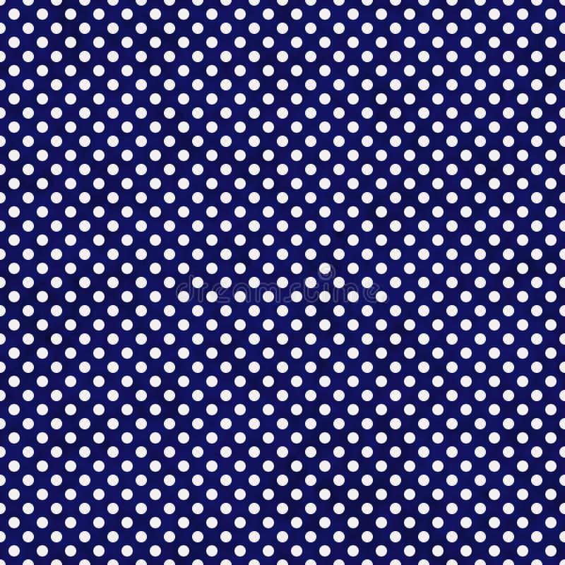 藏青色和白色小圆点样式重复背景 皇族释放例证