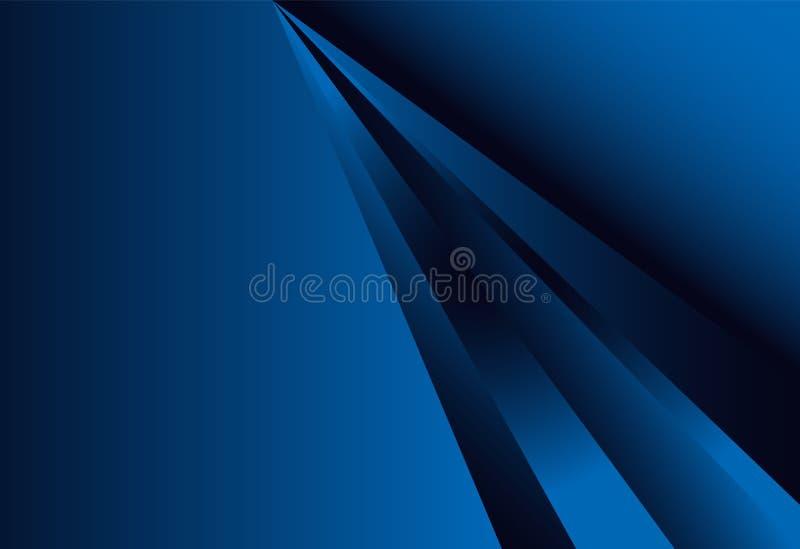 藏青色梯度几何背景材料设计交叠 库存例证