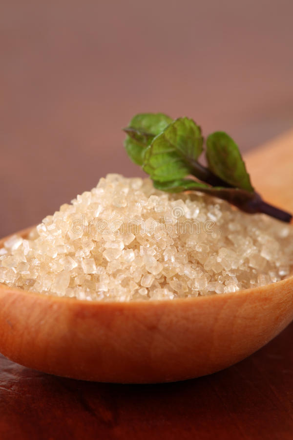 藤茎木匙子的糖 免版税库存图片