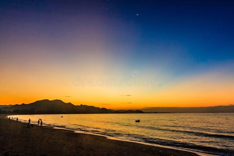 藩朗Ninh储海滩,越南 图库摄影