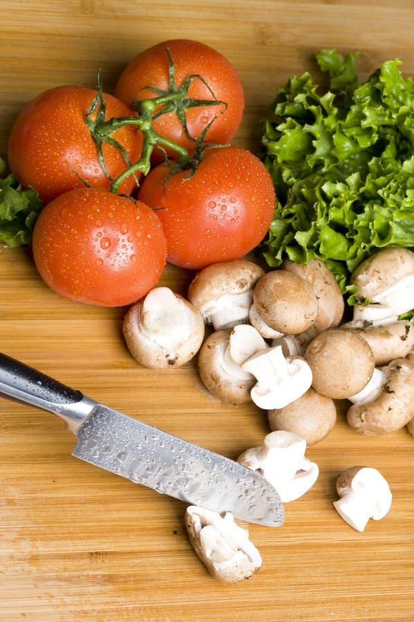 蘑菇和蔬菜 库存照片
