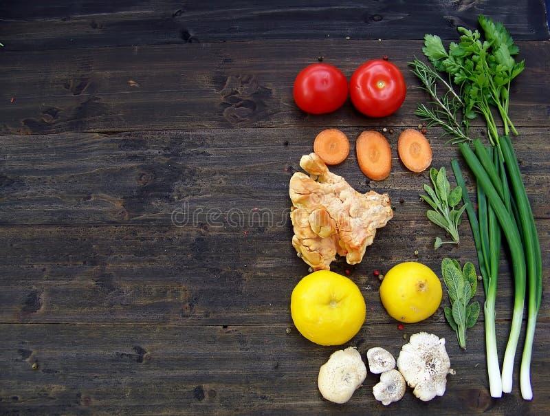 蘑菇汤粮食 图库摄影