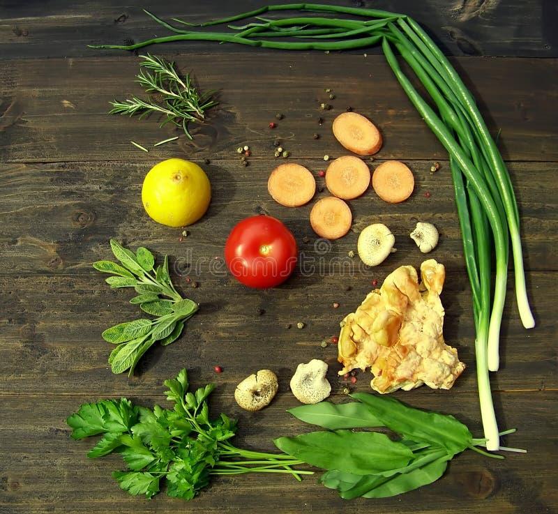 蘑菇汤粮食 库存图片