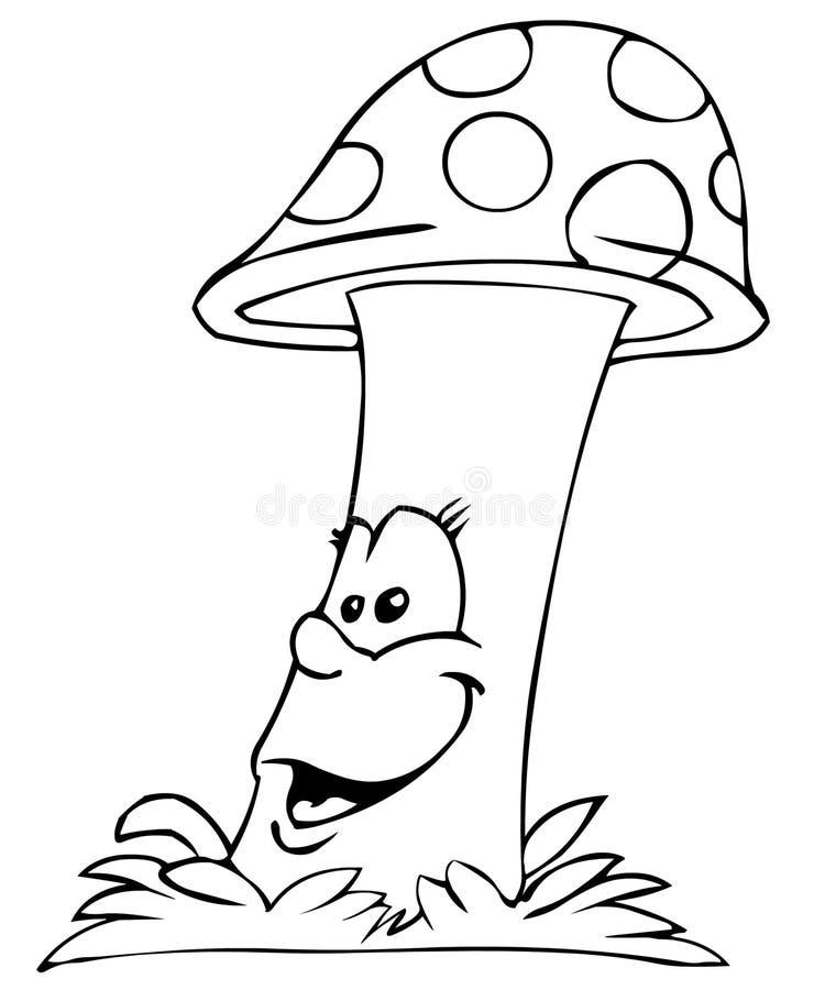蘑菇 皇族释放例证