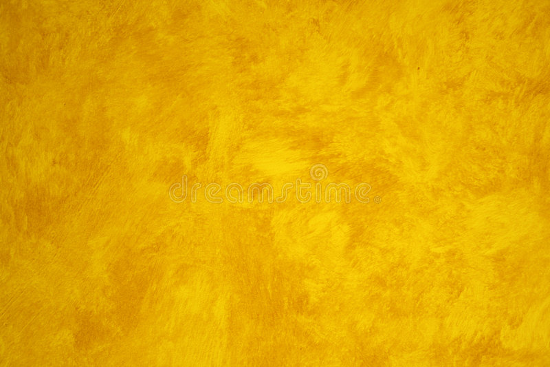 虚假被绘的墙壁黄色 库存照片