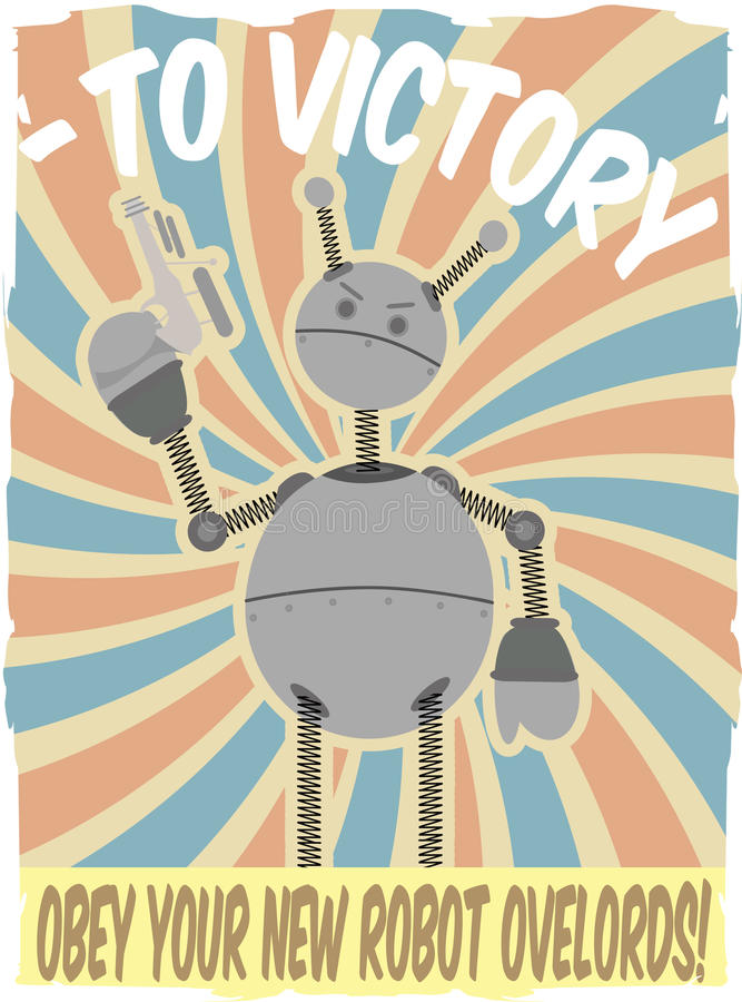 虚假ii入侵海报机器人向量战争世界 皇族释放例证