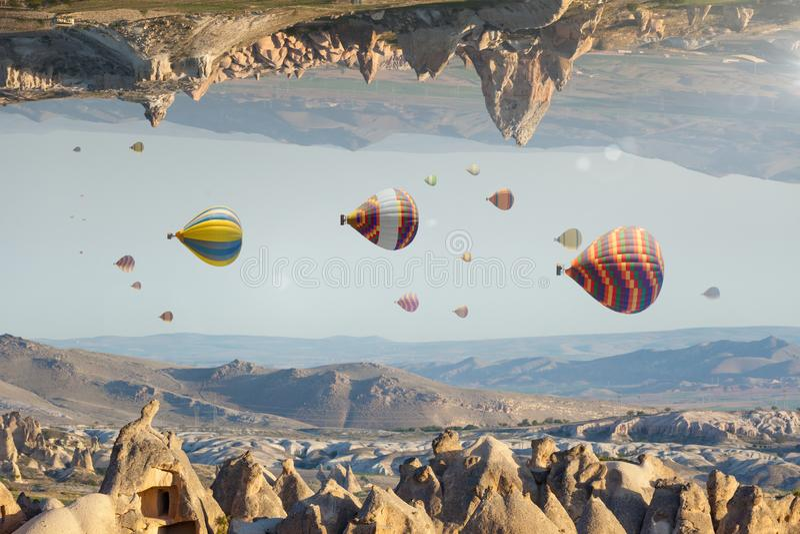 虚幻的意想不到的世界,不可能的超现实的地形 免版税图库摄影