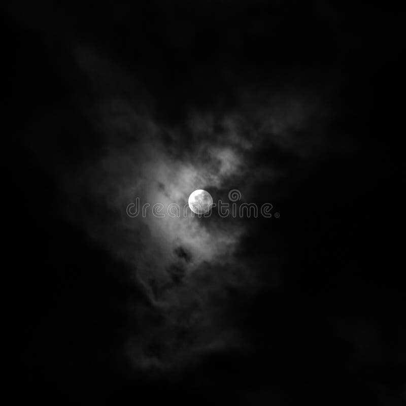 虚度在夜空在夜神奇风景 库存图片