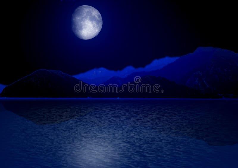 虚度在水反映的星天空 免版税库存图片
