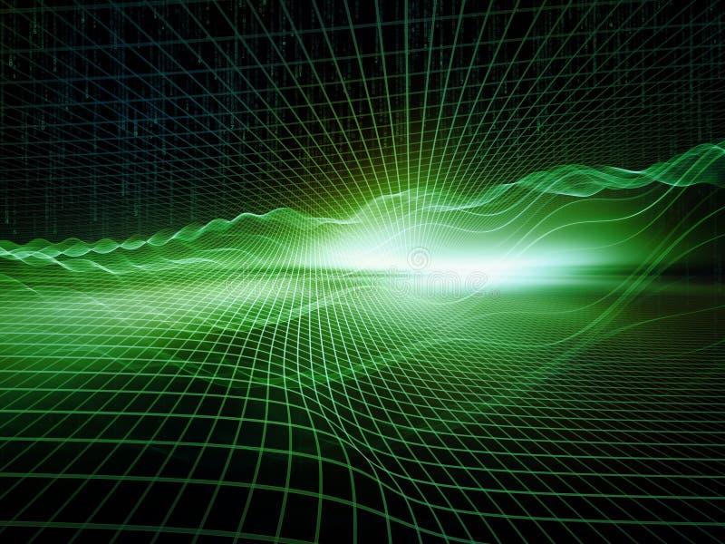 虚拟世界的数字式范例 皇族释放例证