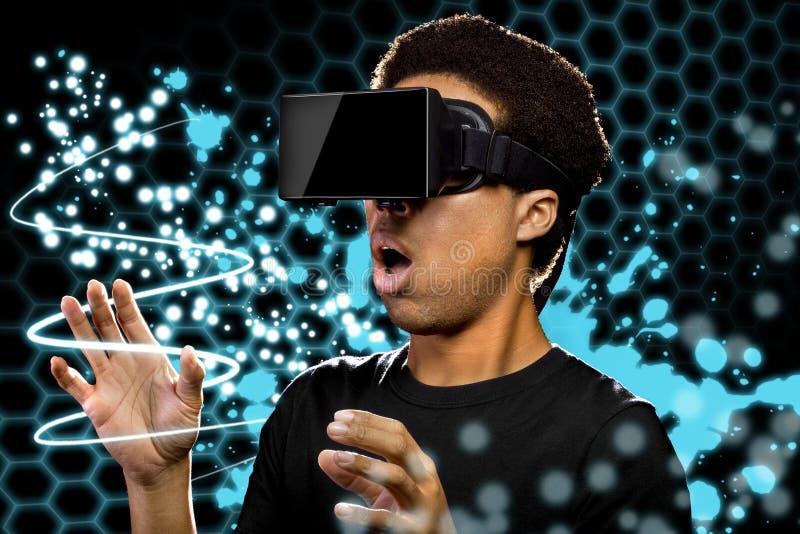 虚拟现实光绘画 库存图片