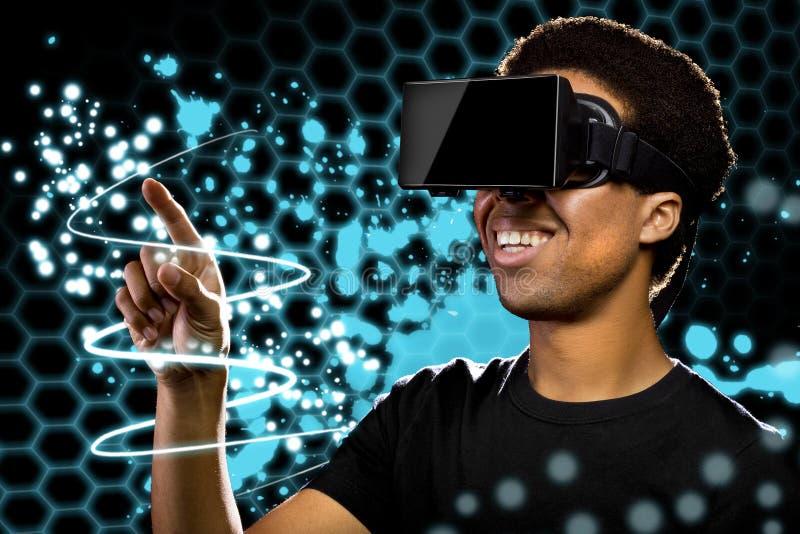 虚拟现实光绘画 免版税库存照片