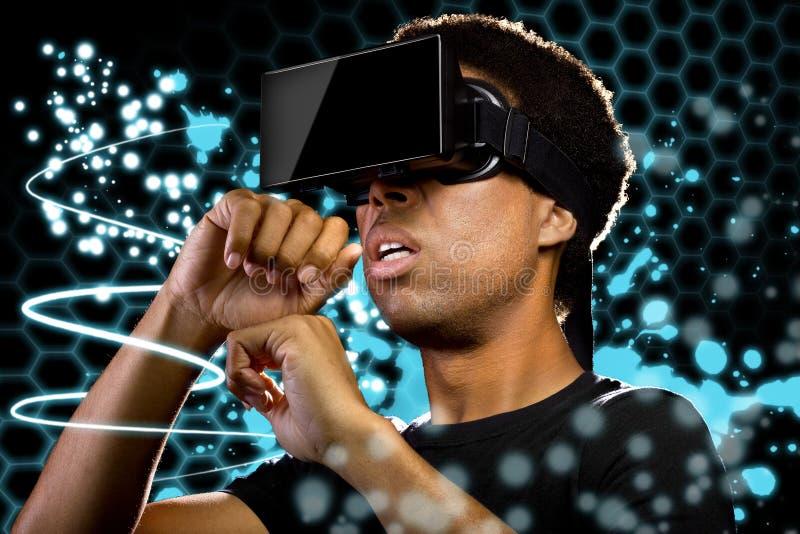 虚拟现实光绘画 免版税库存图片