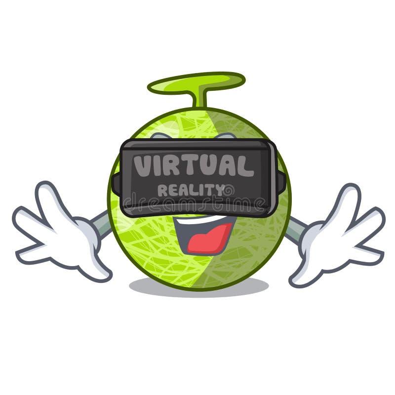 虚拟现实动画片瓜甜果子在市场上 库存例证