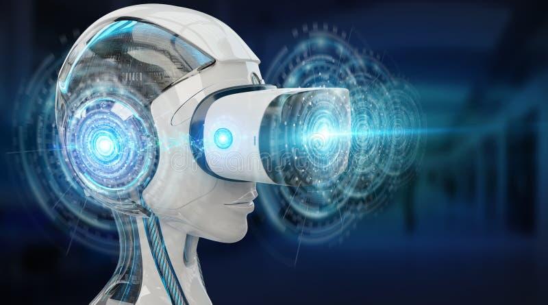 虚拟现实和人工智能例证3D烈