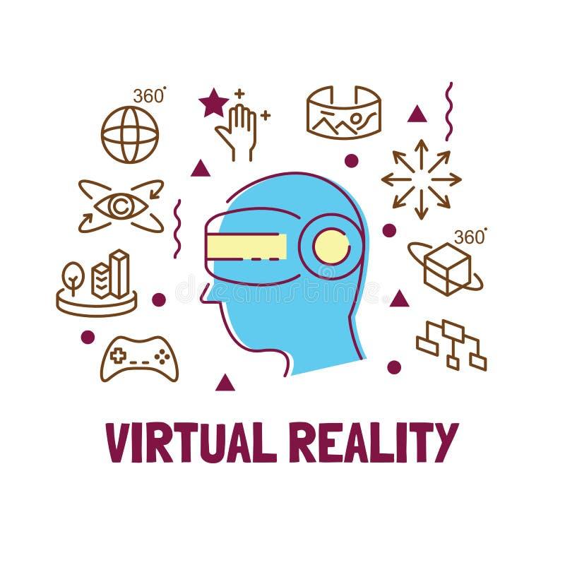 虚拟现实现代概述 皇族释放例证