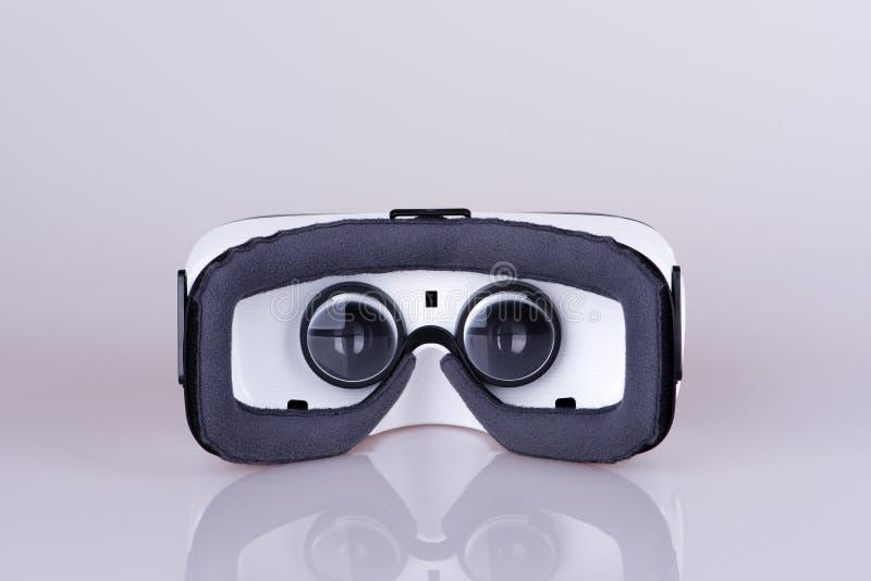 虚拟现实耳机后方里面视图  图库摄影