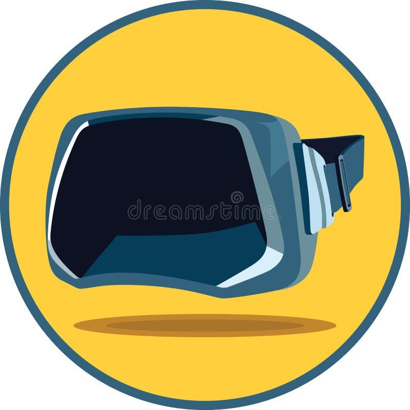 虚拟现实玻璃 向量例证