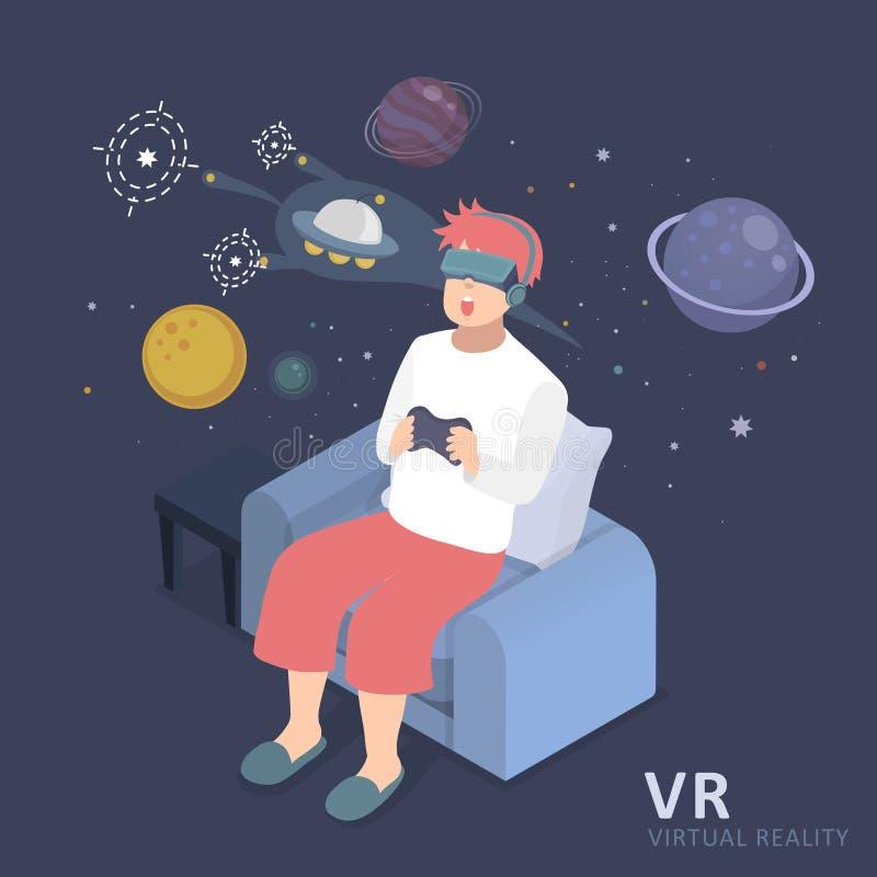 虚拟现实经验 向量例证