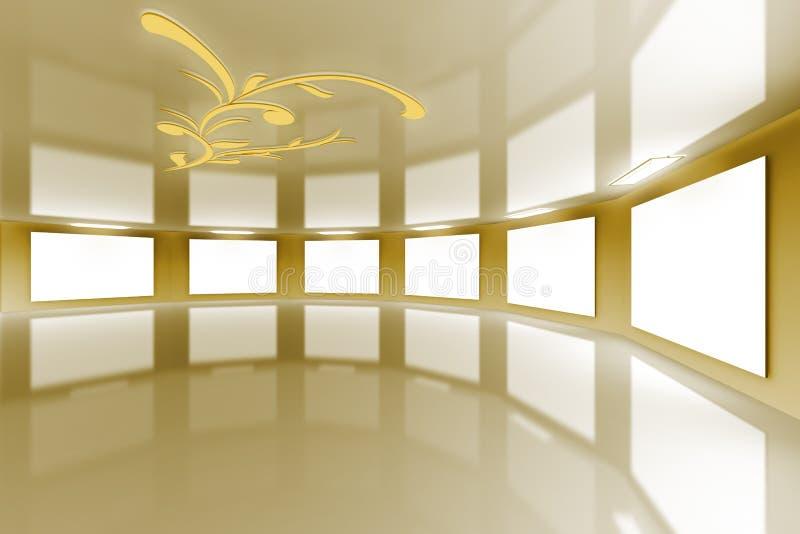 虚拟画廊金现代的缎 皇族释放例证