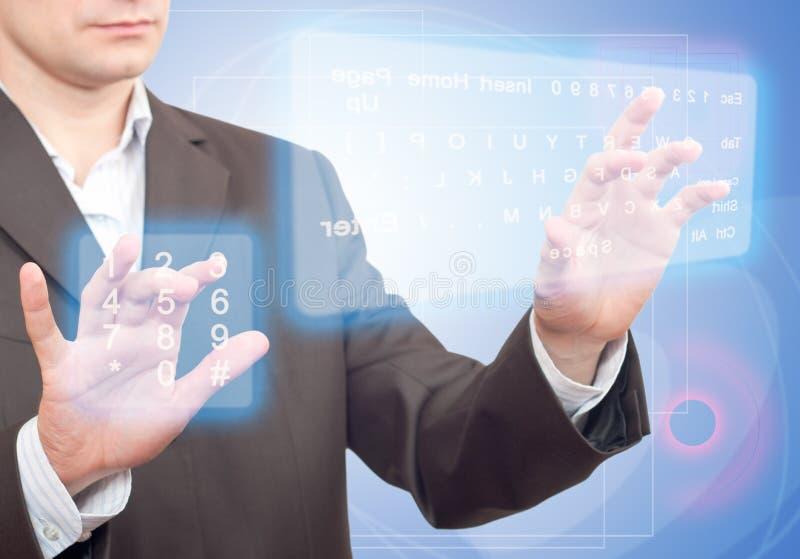 虚拟的关键董事会二 免版税库存照片