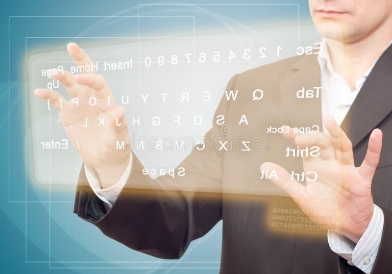 虚拟的关键董事会 免版税库存图片