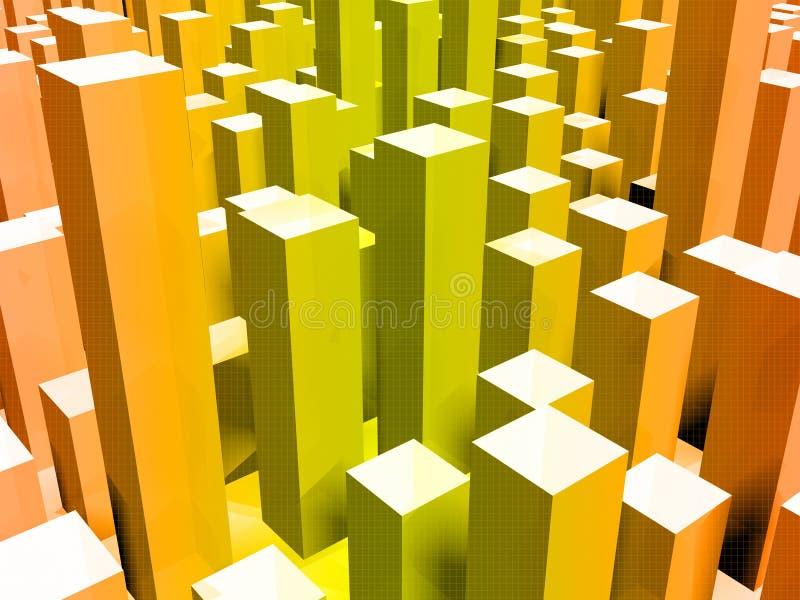 虚拟的城市 向量例证