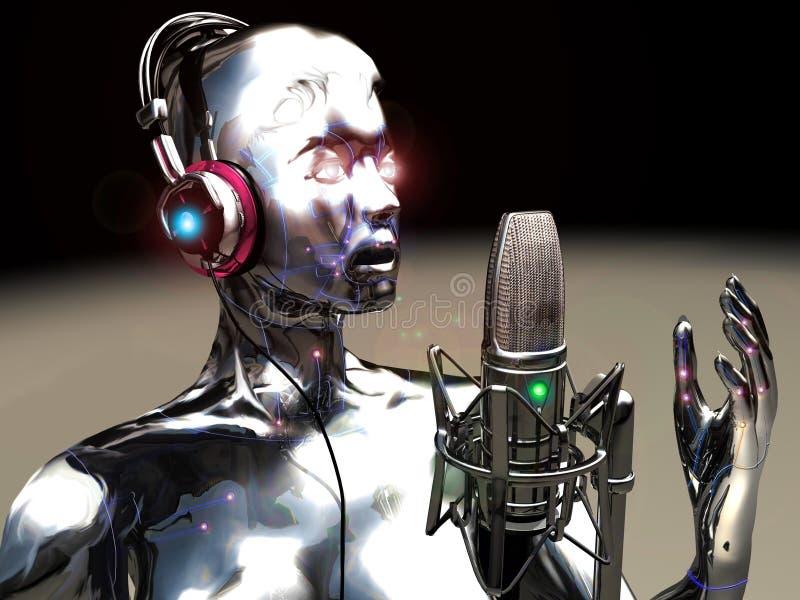 虚拟的歌唱家 库存例证