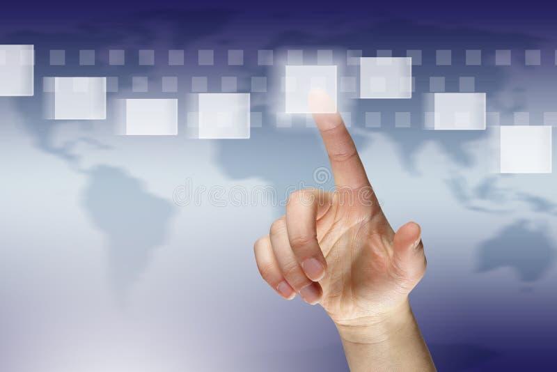 虚拟的通信 免版税库存照片