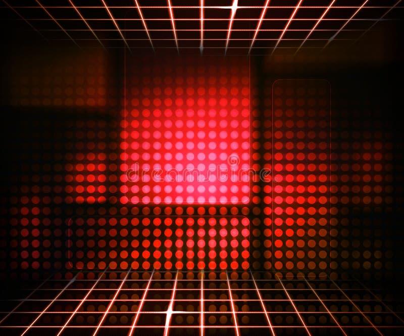 虚拟背景概念红色的技术 皇族释放例证