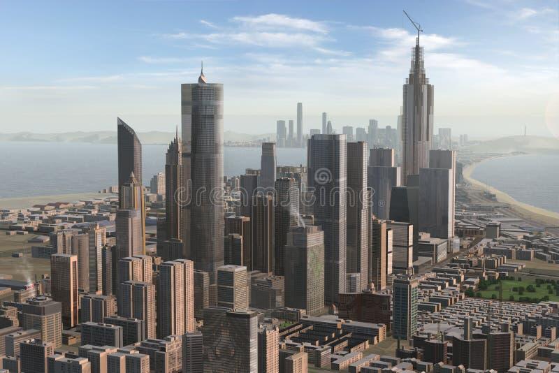 虚构的城市49 免版税库存图片