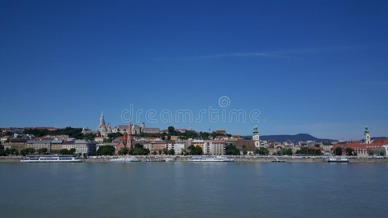 从虫的看法Buda的在布达佩斯 免版税库存图片
