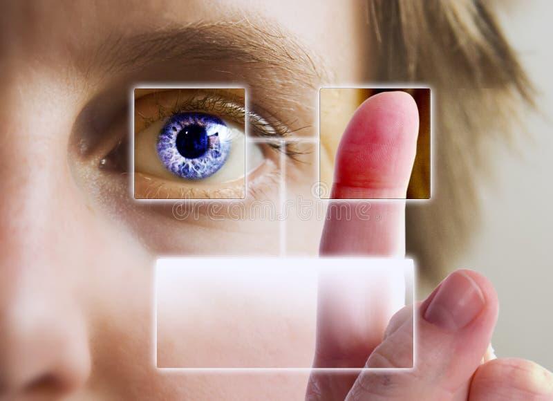 虹膜扫描 库存照片