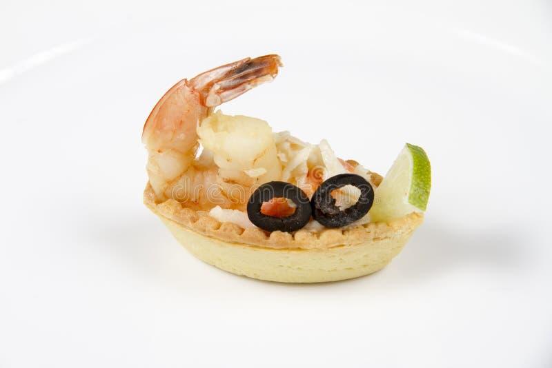 虾和饼干 免版税库存照片