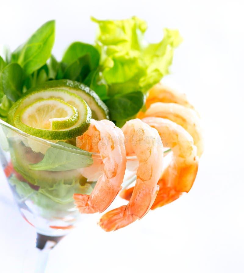 虾或大虾鸡尾酒 库存图片