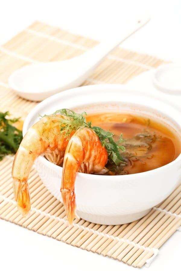 虾汤 库存图片
