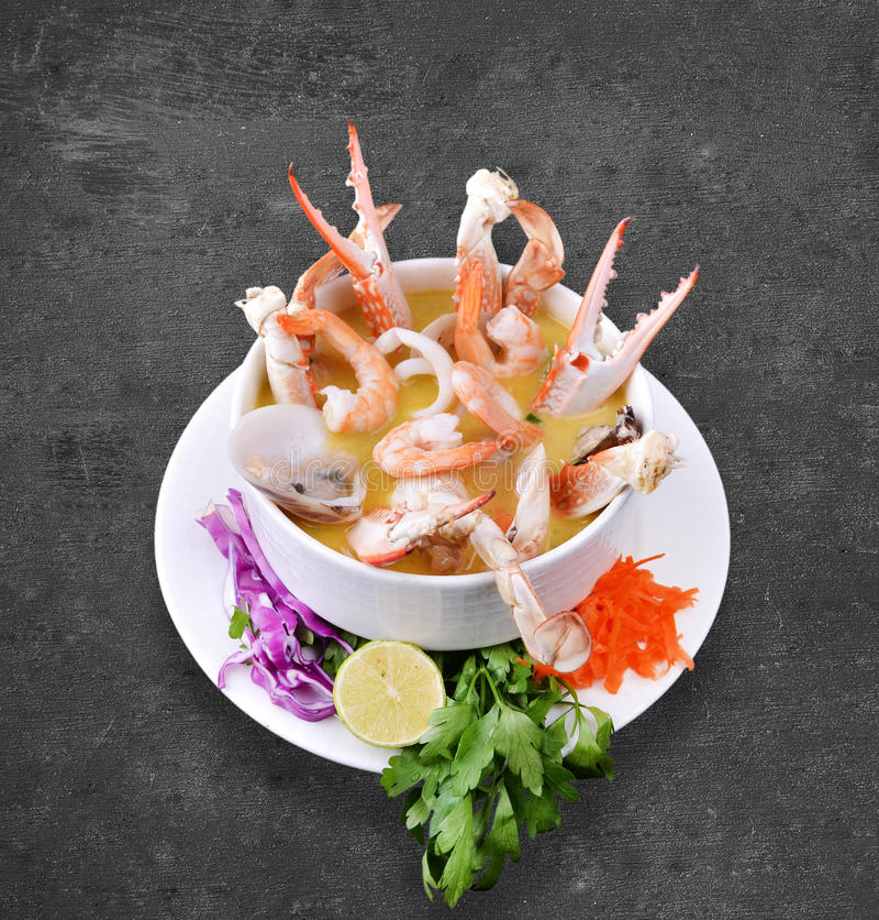 虾汤 图库摄影