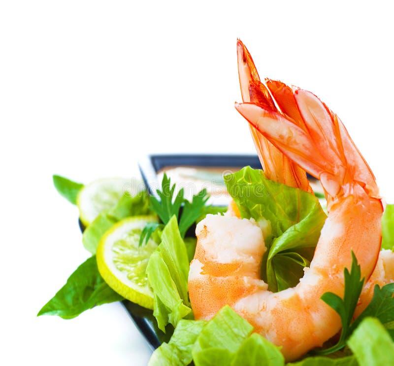 虾沙拉 免版税库存照片