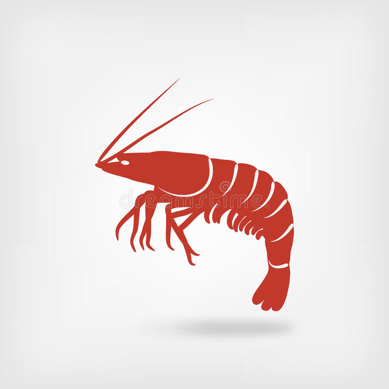 虾海鲜商标 库存例证