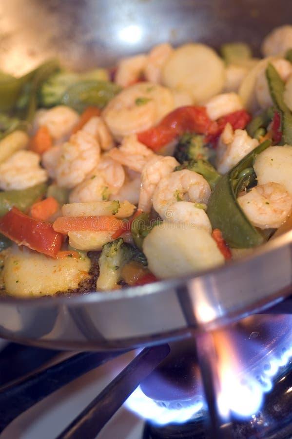 虾蔬菜 库存照片