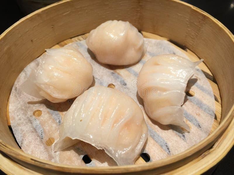 虾饺子粤式点心 免版税图库摄影